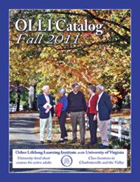 Cover- OLLI Fall 2011 Catalog