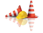 hardhat and cones