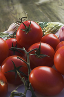 Close-up of tomatoes in a bowl