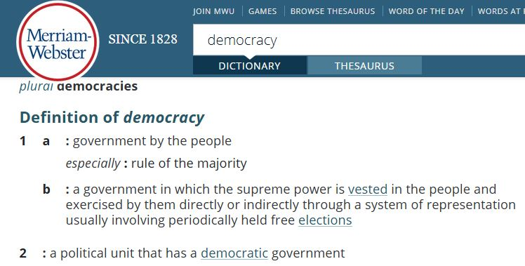 link to definition of democracy